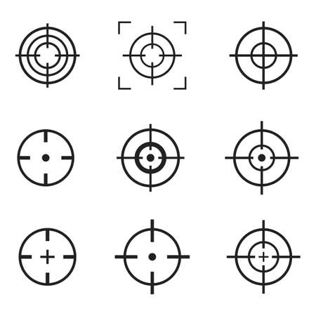 Crosshair icon vector design illustration isolated on white background
