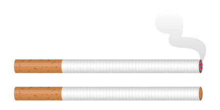 Cigarette vector design illustration isolated on white background