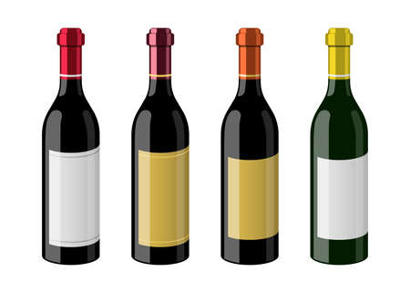 Bottle of wine vector design illustration isolated on white background