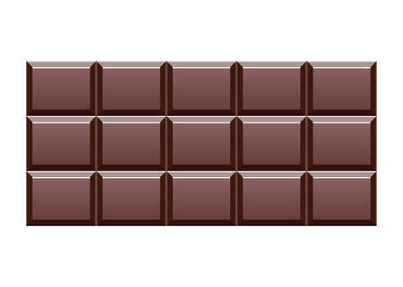 Chocolate bar vector design illustration isolated on white background