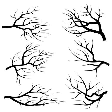 Branch silhouettes vector design illustration isolated on white background