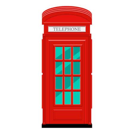 Telephone box vector design illustration isolated on white background