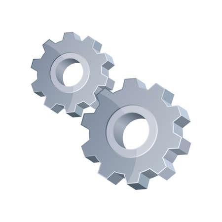 Gear vector design illustration isolated on background Векторная Иллюстрация