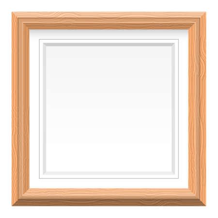 Wooden picture frame vector design illustration isolated on white background Vektorové ilustrace