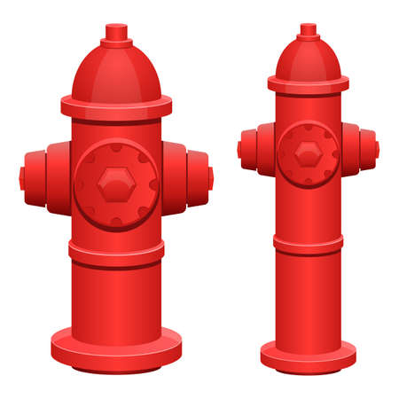 Fire hydrant vector design illustration isolated on white background