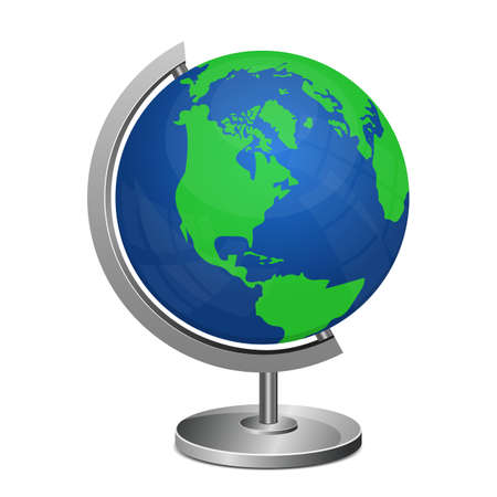 Earth globe stand vector design illustration isolated on white background