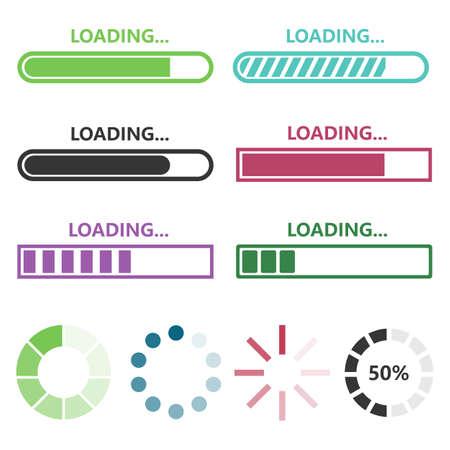 Loading vector design illustration isolated on white background