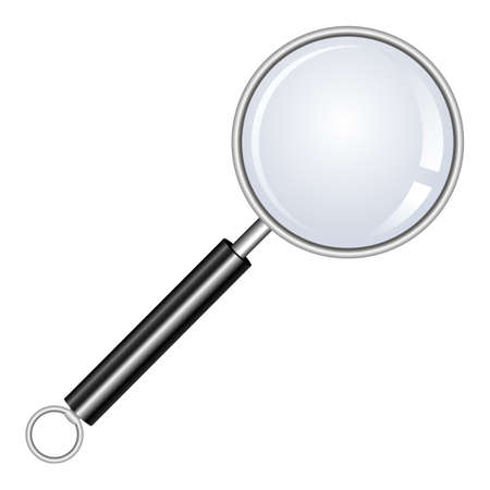 Magnifying glass vector design illustration isolated on white background