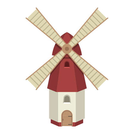 Windmill vector design illustration isolated on white background