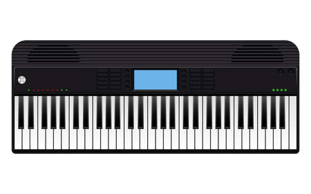 Electronic piano vector design illustration isolated on white background