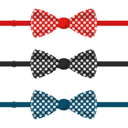 Stylish bow tie vector design illustration isolated on white background Ilustracje wektorowe