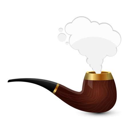 Stylish smoking pipe vector design illustration isolated on white background Illusztráció
