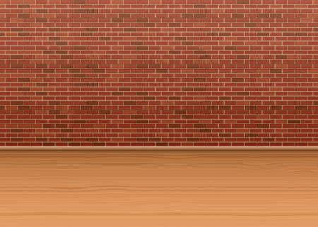 Interior brick wall vector design illustration