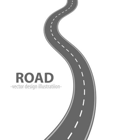 Path road vector design illustration isolated on white background Vettoriali