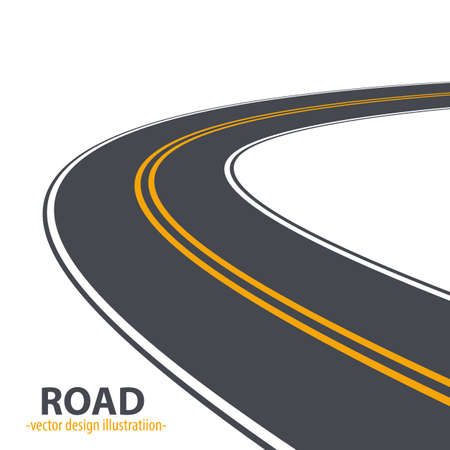 Path road vector design illustration isolated on white background