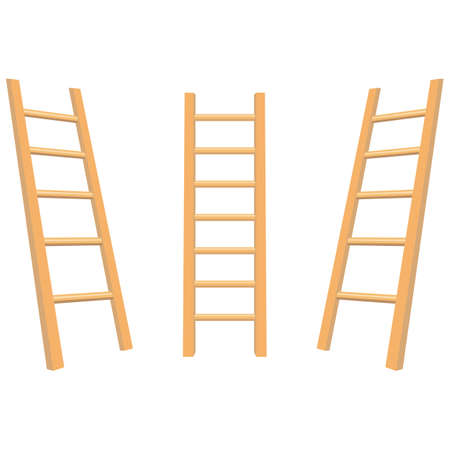 Wooden ladder vector design illustration isolated on white background