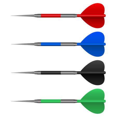 Dart arrows set vector design illustration isolated on white background