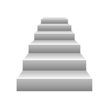 Stairs vector design illustration isolated on white background Ilustração