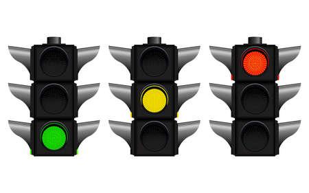 Traffic lights vector design illustration isolated on white background Illustration
