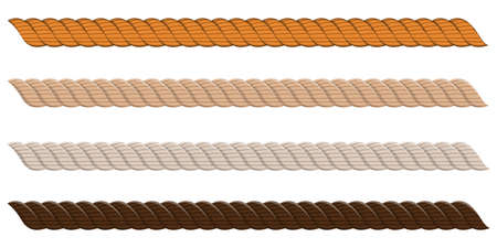 Realistic rope collection vector design illustration isolated on white background