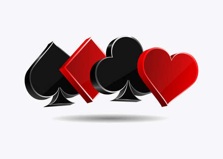 Suit of playing cards vector design isolated on white background