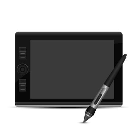 Graphic tablet vector design illustration isolated on white background