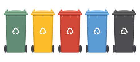 Dumpster for trash vector design illustration isolated on white background