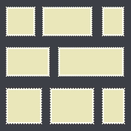 Blank postage stamp vector design illustration 矢量图像