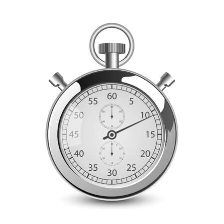Retro stop watch vector design illustration isolated on white background