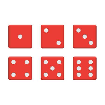 Set of casino dice vector design illustration isolated on white background 矢量图像