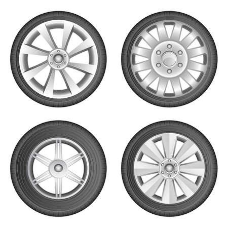Car tyre vector design illustration isolated on white background Vektorgrafik