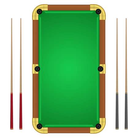 Billiards table vector design illustration isolated on white background Vector Illustratie