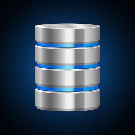 Data server vector design illustration isolated on background Vektorgrafik
