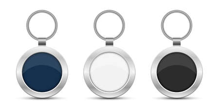 Keychain vector design illustration isolated on white background