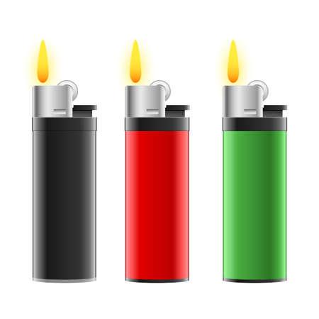 Lighter set vector design illustration isolated on white background Vettoriali