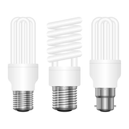 Realistic lightbulb vector design illustration isolated on white background