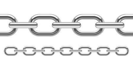 Metallic chain vector design illustration isolated on white background