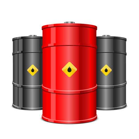 Oil barrel vector design illustration isolated on white background Vector Illustratie