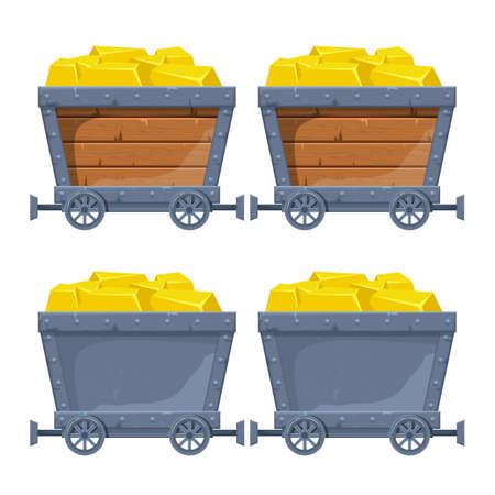 Mine cart vector design illustration isolated on white background