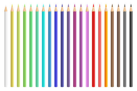 Colored pencils vector design illustraion isolated on white background