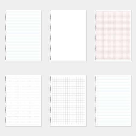 Paper sheet set vector design illustration isolated on background