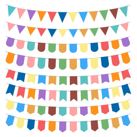 Party flag vector design illustration isolated on white background
