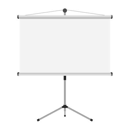 Projection screen vector design illustration isolated on white background