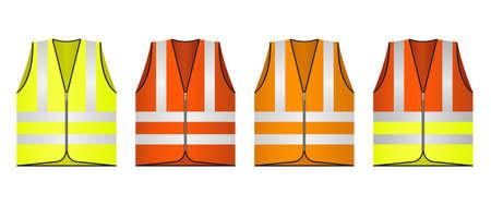 Safety vest vector design illustration isolated on white background Vektoros illusztráció