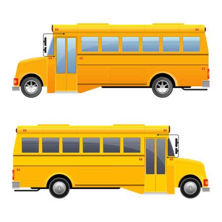 School bus vector design illustration isolated on white background Ilustração