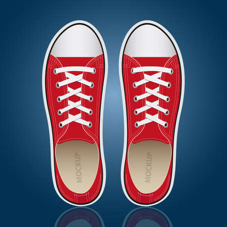 Sneakers vector design illustration isolated on background