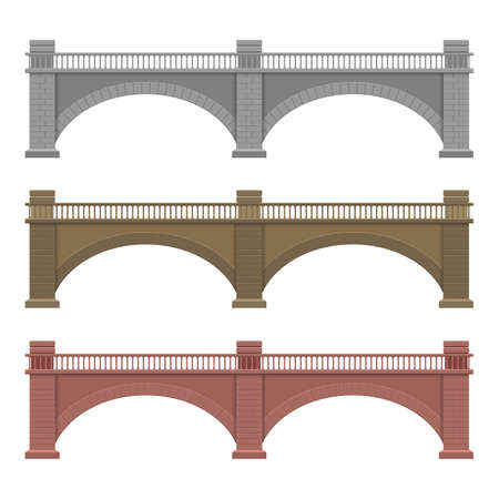 Stone bridge vector design illustration isolated on white background