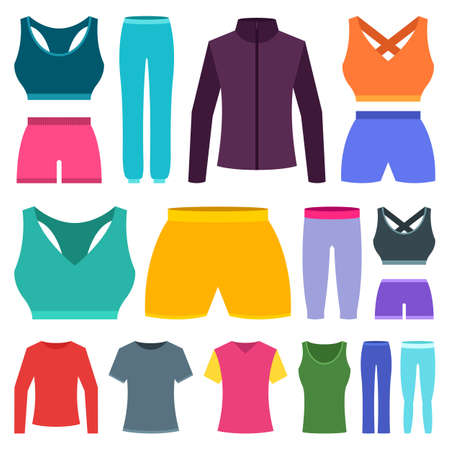 Woman sport clothing vector design illustration isolated on white background