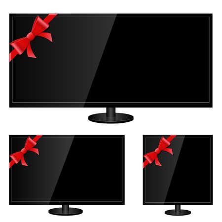 Modern tv vector design illustration isolated on white background