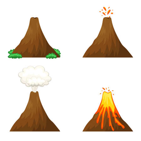 Vulcano vector design illustration isolated on white background